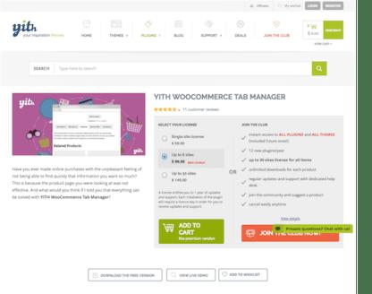 YITH WooCommerce: Tab Manager Premium