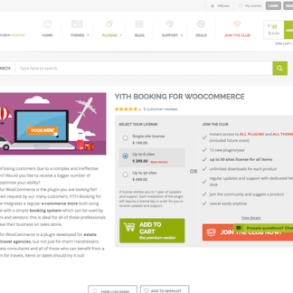 YITH WooCommerce: Booking Premium