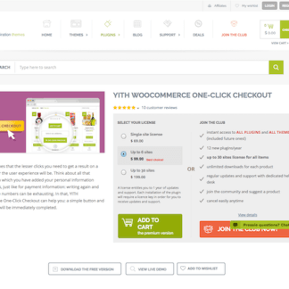 YITH WooCommerce: One-Click Checkout Premium