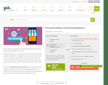 YITH WooCommerce: Pre-Order Premium