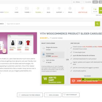 YITH WooCommerce: Product Slider Carousel Premium