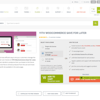 YITH WooCommerce: Save for Later Premium