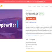 Themify Builder Typewriter