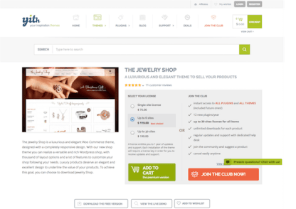YITH WooCommerce: The Jewerly Shop