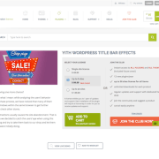 YITH WooCommerce: Title Bar Effects