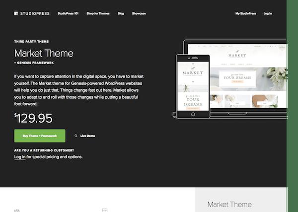 StudioPress: Market Theme