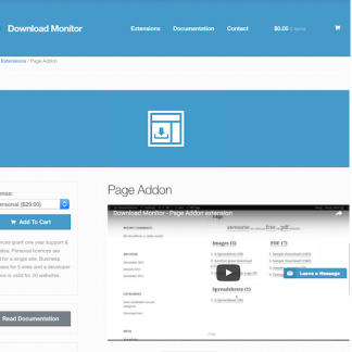 Download Monitor Page Add-On