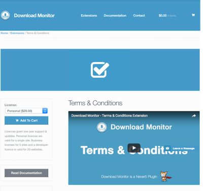 Download Monitor Terms and Conditions