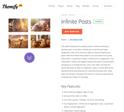 Themify Builder Add-On: Infinite Posts Addon