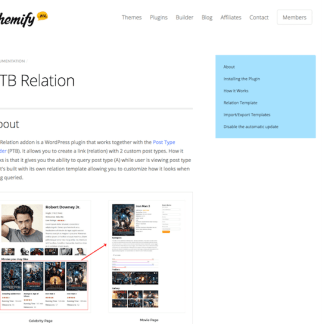 Themify Post Type Builder Add-On: Relation