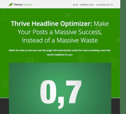 Thrive Themes Plugin: Headline Optimizer