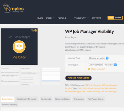 WP Job Manager Add-On: Visibility