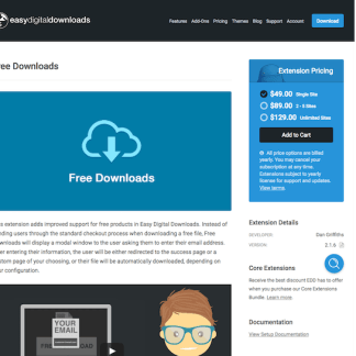 Easy Digital Downloads: Free Downloads
