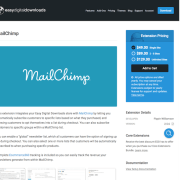 Easy Digital Downloads: MailChimp