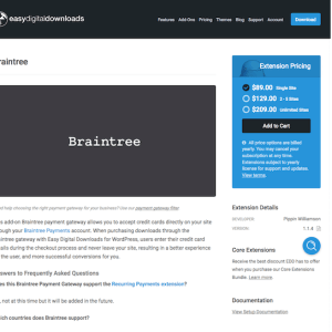 Easy Digital Downloads: Braintree