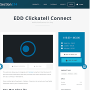 Easy Digital Downloads: Clickatell Connect