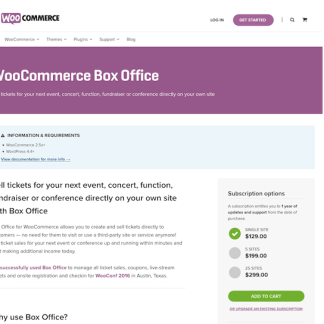 Extensión para WooCommerce: Box Office