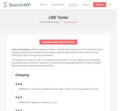 SearchWP: LIKE Terms