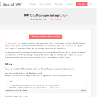SearchWP: WP Job Manager Integration