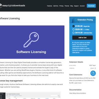 Easy Digital Downloads: Software Licenses