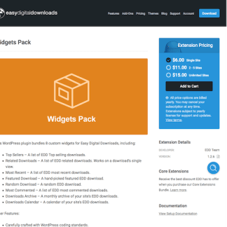 Easy Digital Downloads: Widgets Pack