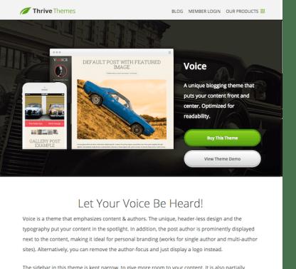 Thrive Themes: Voice WordPress Theme