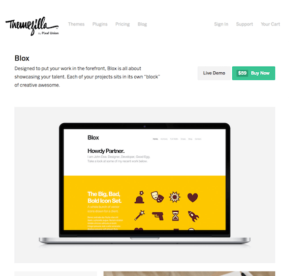 ThemeZilla: Blox WordPress Theme