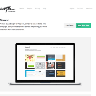 ThemeZilla: Garnish WordPress Theme