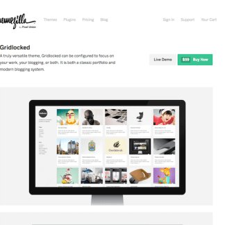 ThemeZilla: Gridlocked WordPress Theme
