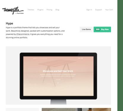 ThemeZilla: Hype WordPress Theme