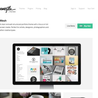 ThemeZilla: Mesh WordPress Theme