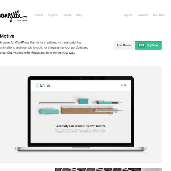 ThemeZilla: Motive WordPress Theme