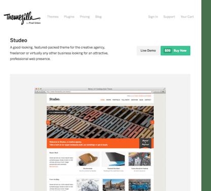 ThemeZilla: Studeo WordPress Theme