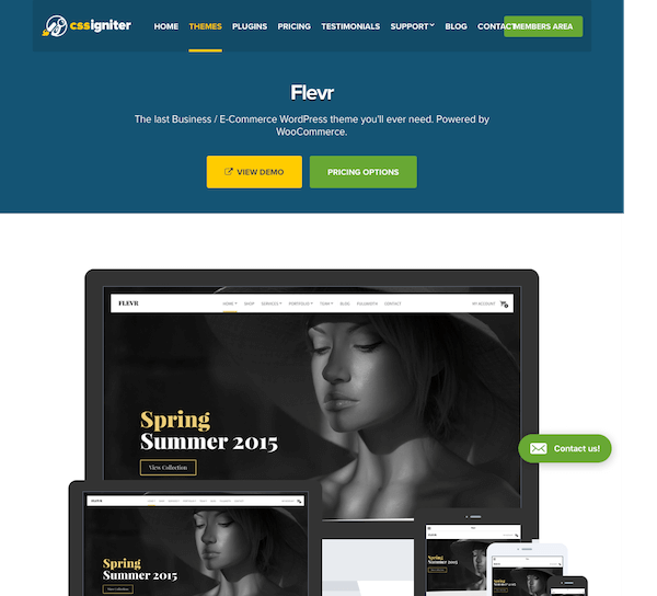 CSS Igniter: Flevr WordPress Theme