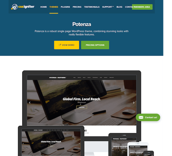 CSS Igniter: Potenza WordPress Theme