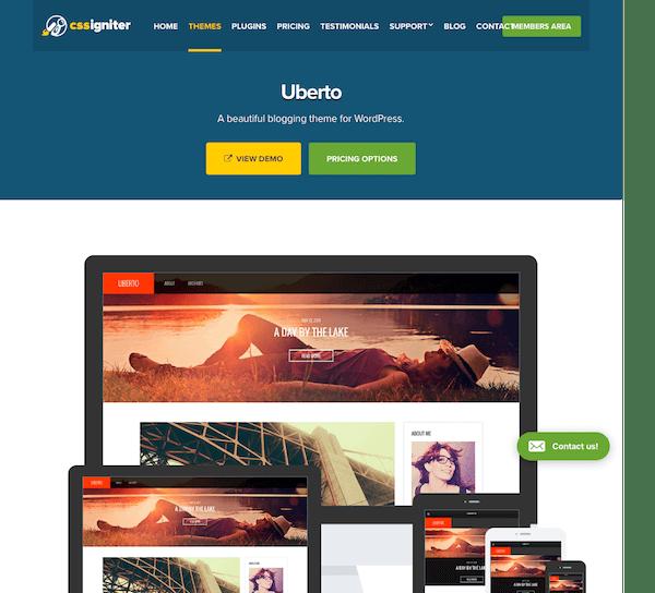 CSS Igniter: Uberto WordPress Theme