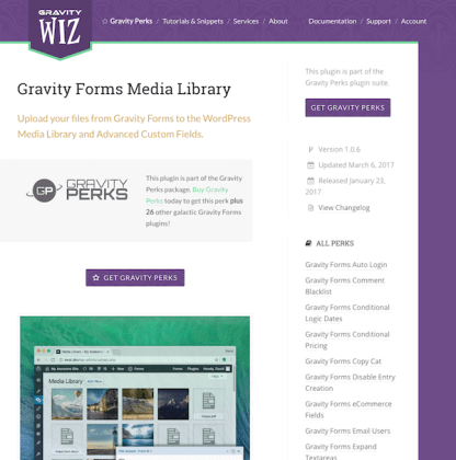 Gravity Perks: Media Library