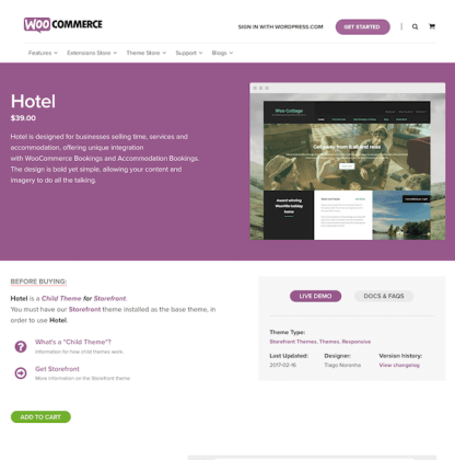 WooThemes: Hotel