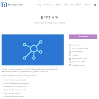 Restric Content Pro: REST API