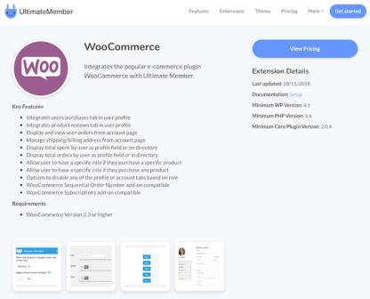 Ultimate Member Extension: WooCommerce