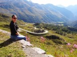 Sandra on Bernina Pass Route
