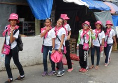 Girl Guides in Pink