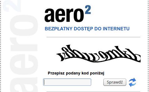Aero2 nowe kody CAPTCHA