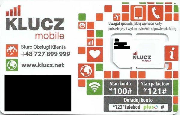 karta SIM KLUCZ Mobile2
