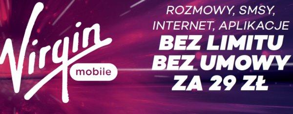 Mocna oferta Virgin Mobile Polska – wszystko bez limitu za 29 zł