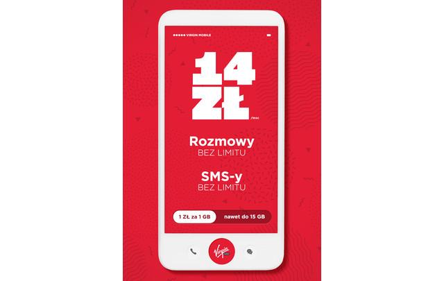 Nowość – abonament za 14 zł w Virgin Mobile