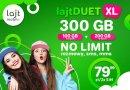 Lajt mobile – NO-LIMIT + ogromna paczka internetu na obie SIM za 79,99 zł/mc w lajtDUET