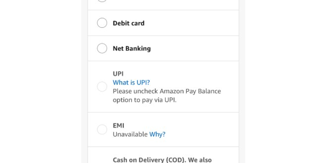 Amazon India Starts Accepting Payments Via UPI – NDTV