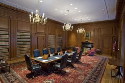 The Justices' Conference Room is where the Justices of the Supreme Court meet in private to discuss cases