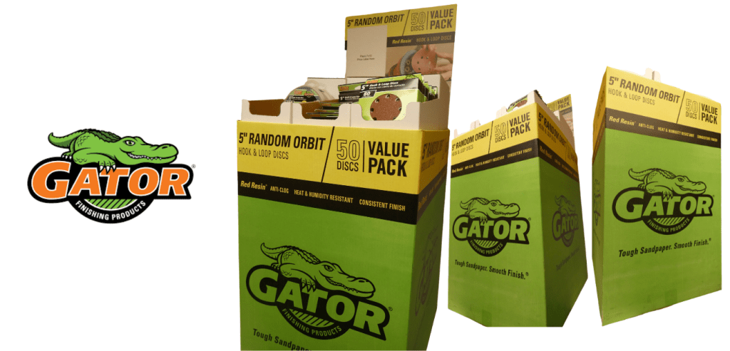 Custom product display for Gator Refinishing Tools
